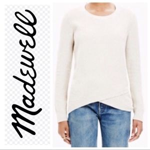 Madewell Feature Pullover Sweater Oatmeal Sz M